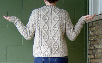 back of the Must Have cardigan