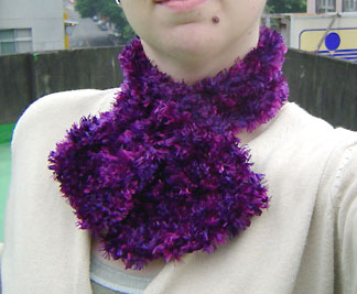 Boa keyhole scarf