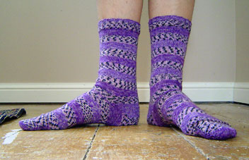 purple Opal socks