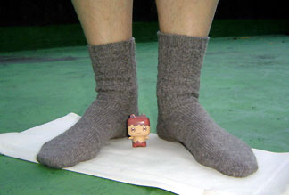 socks & Mr. Tea Egg