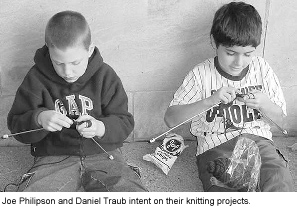 random knitting story
