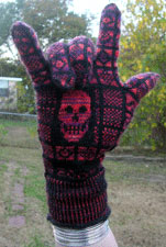 skull gloves