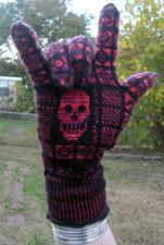 skull gloves