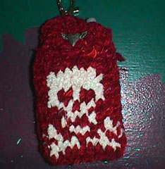 skull phone cozy