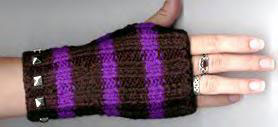 studded wristwarmer