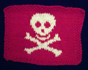 jolly roger dishcloth
