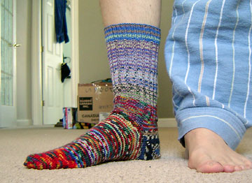 What could be better than hand-knit socks and flannel jammies?