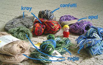 sock yarn scraps