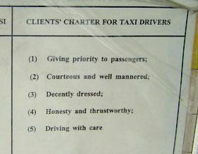 KL taxi sign